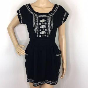 Heritage 81 Black & White Aztec Short Dress